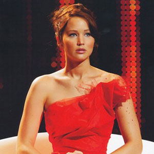 Jennifer Lawrence at Katniss Everdeen